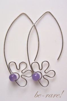 wire wrapping jewelry | wire wrapping spring earrings with amethyst