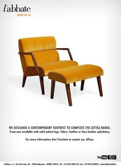 Attesa footrest. Foot Rest, Upholstery, Contemporary, Chair, Create, News, Leather, Furniture, Design