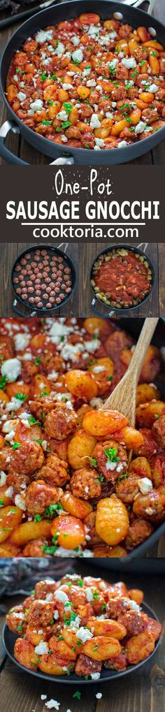 Made with just 4 ingredients in under 30 minutes, this One Pot Sausage Gnocchi is a simple, yet filling and tasty dish that whole family will enjoy! Italian Sausage Recipes, Sweet Italian Sausage, Best Italian Recipes, Favorite Recipes, Endive Recipes, Gnocchi Recipes, Pasta Recipes, Radish Recipes, Pork Recipes