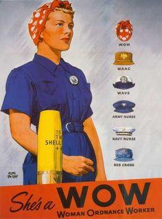 """A WWII """"WOW"""" - Women's Ordnance Worker"""