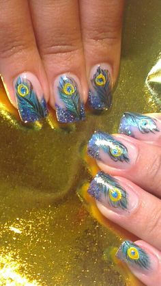 Peacock nails OMG I AM IN LOVE!!