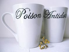 Poison / Antidote coffee mugs Adorable