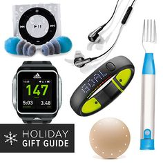 Fitness Gadget Gifts via PopSugar Fitness including the Waterfi Waterproofed iPod Shuffle Swim Kit