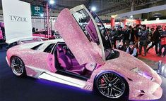 I guess if you have the money for a Lamborghini, you can bling it out in pink if. - Cars - I guess if you have the money for a Lamborghini, you can bling it out in pink if… —How does up - Luxury Sports Cars, Top Luxury Cars, New Sports Cars, Sport Cars, Lamborghini Veneno, Lamborghini Logo, Lamborghini Diablo, Lamborghini Interior, Maserati