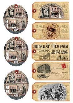 mal ganz was anderes. Vintage Tags, Vintage Ephemera, Free Printable Tags, Free Printables, Christmas Labels, Freebies, Le Far West, Free Graphics, Paper Tags