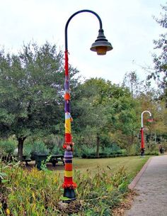 Riverfront Park in Conway, SC, Has Been Bombed! Yarn Bombed That Is.