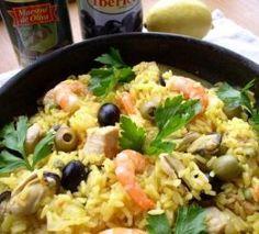 Паэлья с морепродуктами и оливками. Пошаговый рецепт с фото, удобный поиск рецептов на Gastronom.ru
