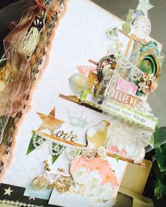 """{all that glitters} """" Pyramid of love"""" album for bff's birthday by DT member Jaz Lee"""