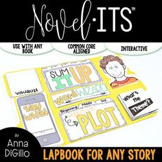 This Novel-Its Lapbook is the perfect activity for your students to use when responding to ANY chapter book or novel they are reading. You can also have your students complete these flip flaps and adhere them to their interactive notebooks if you don't want to create a lapbook.