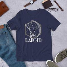 Ranger - Bow & D20 - Unisex T-shirt - Navy / M