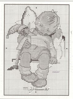 "Hummel's ""Sleepy Time"" cross stitch pattern. - SLIGHTLY DIFFERENT DESIGN"