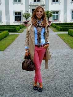 Colored pants for spring