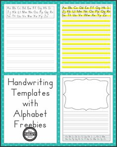 Handwriting Templates With Alphabet Guides - Your Therapy Source throughout Handwriting Without Tears Letter Templates - Business Template Handwriting Without Tears, Cursive Handwriting, Handwriting Practice, Penmanship, Caligraphy, Pre Writing, Start Writing, Writing Skills, Writing Strategies