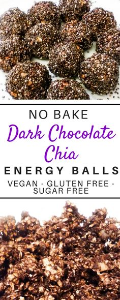 These delicious superfood loaded no bake energy bites are such a healthy and easy recipe! These protein filled energy balls are loaded with oatmeal, peanutbutter, dates, chocolate, chia seeds, and coconut oil! The simple clean eating recipe cleanses and is gluten free, nut free, sugar free, and vegan Plus these peanut butter protein balls are 21 day fix, whole 30, and kids approved! #healthysnacks #energybites #energyballs #cleaneatingrecipes