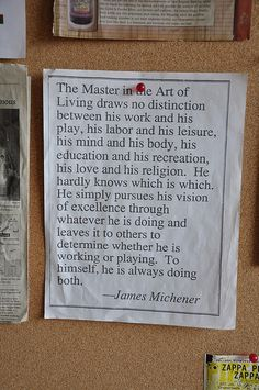Master in the Art of Living by parisicoffee, via Flickr