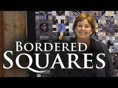 Make the Bordered Squares Quilt - video tutorial from Jenny Doan of the Missouri Star Quilt Co. Jenny Doan Tutorials, Msqc Tutorials, Quilting Tutorials, Layer Cake Quilts, Layer Cakes, Missouri Quilt Tutorials, Easy Quilts, Quilting Tips, Couture