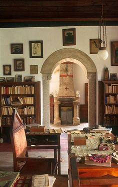 Douro litoral- teixeira de Pascoaes's library at Casa de Pascoaes, Amarante. Portugal