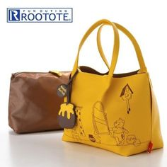 Disney JAPAN Tote Bag deli Rutoto Winnie the Pooh From JAPAN