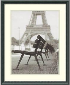 "0-028370>17x21"" Teo Tarras Rendezvous a Paris Framed Print"