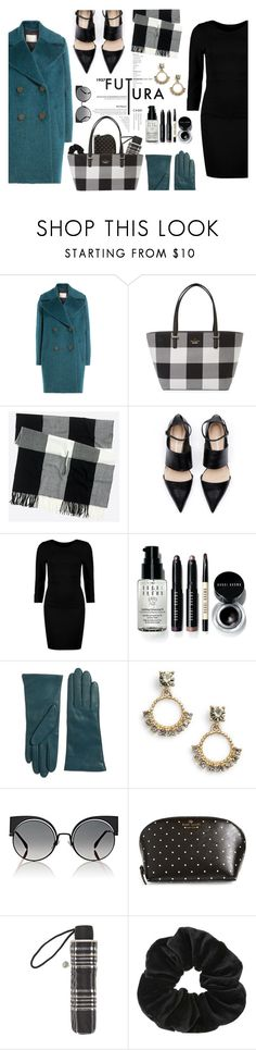 """""""Not another boring black dress."""" by sonia-10 ❤ liked on Polyvore featuring By Malene Birger, Kate Spade, Boohoo, Bobbi Brown Cosmetics, Lord & Taylor, Marchesa, Fendi, John Lewis and Miss Selfridge"""