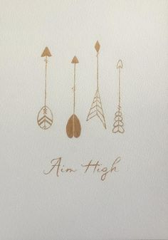 Arrow Painting. Gold Arrow painting with by TinkerTailorDesign