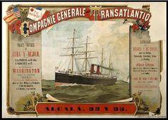Viajes rápidos a Cuba y Méjico. Compagnie Générale Transatlantique (Francia) — Dibujos, grabados y fotografías — 1891-1891?