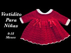 best=Crochet baby dress Christmas Holiday style 9 12 months fast and easy by Crochet for Baby 160 Prom Dresses Stores Crochet Girls Dress Pattern, Baby Dress Patterns, Baby Girl Crochet, Crochet Baby Clothes, Newborn Crochet, Crochet Baby Blanket Beginner, Baby Knitting, Baby Dress Tutorials, Baby Girl Christmas Dresses