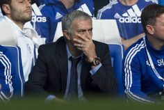 Jose Mourinho unhappy with his strikers (Picture: AP Photo)