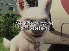 We know anyone can be a hero, Because of Disney