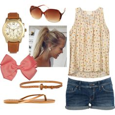 Sweet Summertime by qtpiekelso on Polyvore featuring polyvore, мода, style, Band of Outsiders, Tkees, Michael Kors, MANGO, women's clothing, women's fashion and women