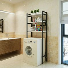 Maximise the small space in your HDB flat with these smart storage hacks that'll make your bedroom, kitchen, and bathroom appear less cluttered. Laundry Room Organization, Laundry Room Design, Laundry In Bathroom, Bathroom Storage, Smart Storage, Storage Hacks, Fold Out Beds, Small Toilet Room, Desk Essentials
