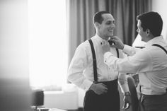 Groom prep for an Indian Trail Club Wedding in Franklin Lakes, NJ. Captured by Northern NJ wedding photographer Ben Lau.