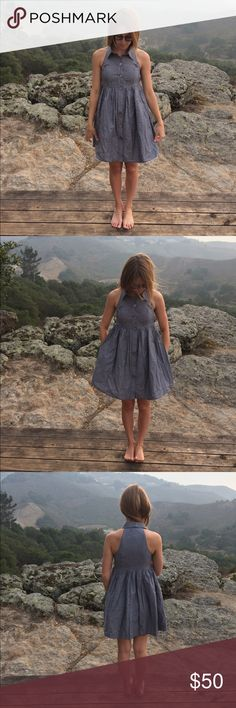 "Alyn Paige denim button up dress Like new cotton dress. Bust- 28"" waist- 28"", length- 33"" Alyn Paige Dresses Mini"