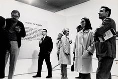 opening of a show of john baldessari's work at the molly barnes gallery, los angeles, 1968