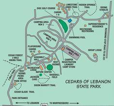 Best Hiking Near Nashville TN   Cedars of Lebanon state park map, Nashville, TN
