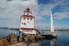 Thunder Bay main light house on Lake Superior