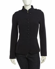 Isda & Co Stretch-Knit Military Jacket, Deep Sea - Neiman Marcus Last Call $134.25