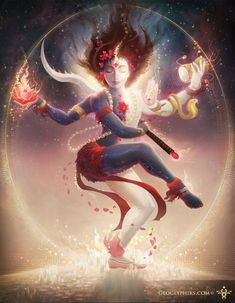 Art is a tool for transformation, on both a personal and planetary level. View imagery of Shiva, Shakti, and Tantra, including the Tantric Marriage. Shiva Shakti, Shiva Art, Hindu Art, Kali Shiva, Lord Krishna, Indian Gods, Indian Art, Backpiece Tattoo, Kali Goddess