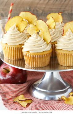 Apple Butter Cupcakes - a deliciously easy cupcake recipe with apple butter in…