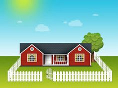 Image result for photos of houses with white picket fences around