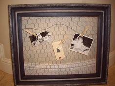 DIY Chicken Wire Noteboard DIY Home Decor Crafts