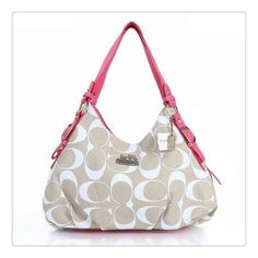 2995a306f5b4 Coach Fashion Signature Medium Pink Ivory Shoulder Bags ERF  Might be my  next Coach bag!