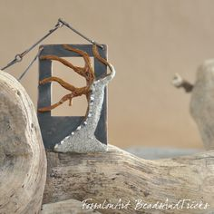 Necklace. Hemp twine, sand, copper, seashells' chips.  Handmade by FossalonArt & Beads and Tricks