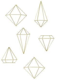 In a stunning brass finish, the minimal, geometric shape of each piece in this contemporary geometric metal wall art set pops. Diy And Crafts, Arts And Crafts, Do It Yourself Inspiration, Diy Tumblr, Wall Art Sets, Metal Wall Art, Geometric Shapes, Christmas Diy, Xmas