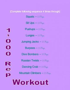 Trying this tonight! (1,000 Reps Workout - 1,000 reps of muscle torture)