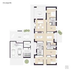 Narrow Lot House Plans, House Floor Plans, Interior Architecture, Interior And Exterior, Interior Design, Villa, Architectural Floor Plans, Future House, Planer