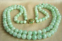 Double Strands Jadeite Necklace