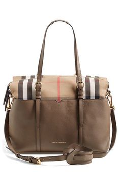 Burberry Burberry Classic Check & Leather Diaper Bag available at #Nordstrom