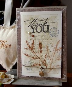 Thank You card by Hadassa - Cards and Paper Crafts at Splitcoaststampers