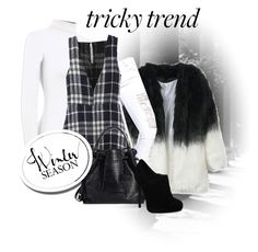 """""""Tricky Trend: Dress and Pants"""" by teez-biz-nez ❤ liked on Polyvore featuring Boohoo and TrickyTrend"""